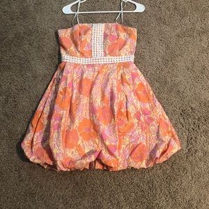 Strapless Lilly Pulitzer bubble dress